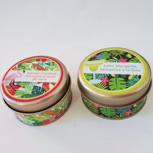 Other - Set of 2 Candles in Tins 3oz Lime Margarita Mango